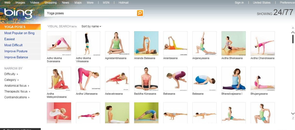 Yoga Poses On Bing